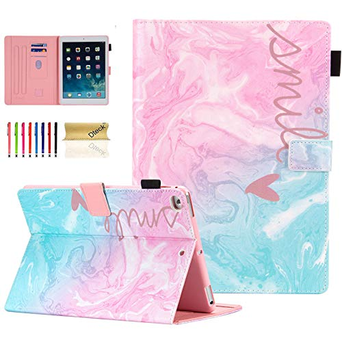 iPad Case 6th/5th Generation/iPad Air Case/iPad Air 2 Case, Dteck Compatible with Apple iPad 6th/5th Generation Cases with Pencil Holder, Auto Sleep/Wake, Multi-Angle Stand Cover - Pink Blue