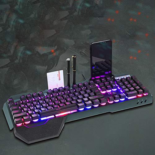 New Mechanical Gaming Keyboard RGB LED Backlight Plug and Play White Black Business Keyboard Ergonomic Waterproof Keyboard