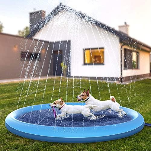 Splash Pad Juegos de Agua para Niños,Juegos Acuaticos Aspersor Almohadilla Juego de Agua para Jardin Exterior,PVC,Juego de Agua para Jardin de Verano para Familiares (150x150 CM)