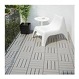 Ikea RUNNEN Bodenrost in grau; 9 Teile; für außen; PLATTA Nachfolger