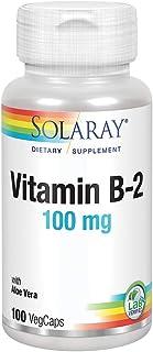 Solaray - Vitamin B2 100 Mg. Capsules