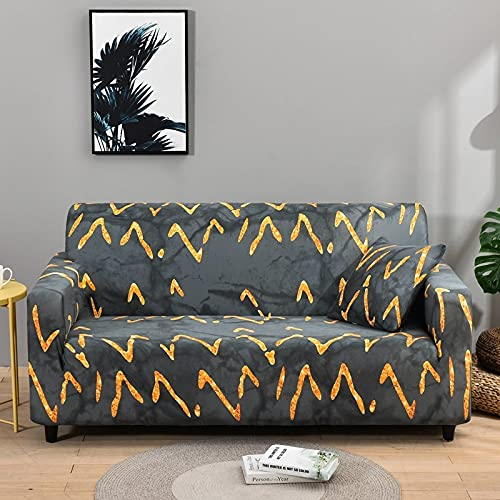 MKQB Funda de sofá elástica elástica para Sala de Estar, Funda de sofá con combinación de Esquina para decoración del hogar, Funda de sofá con protección para Mascotas N ° 5 L (190-230cm)