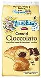 Mulino Bianco Cornetti con Crema di Cioccolato e Nocciole - 6 brioches - 300 g