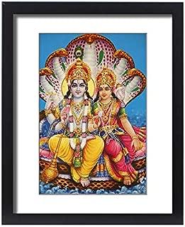 robertharding Framed 20x16 Print of Picture of Hindu Gods Visnu and Lakshmi, India, Asia (6226506)