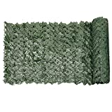 MICHAELA BLAKE Siepe Artificiale Green Leaf Faux Ivy recinto Privacy Parete pianta Falsa Sfondo Erba Decorativo per Esterna Giardino Balcone 0.5x3m