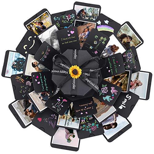 ZEEYUAN Überraschung Box, 8 Gesichter Kreative Explosionsbox DIY Geschenkbox Scrapbook Faltbar Fotoalbum für Weihnachten, Geburtstag, Jahrestag, Valentinstag, Hochzeit