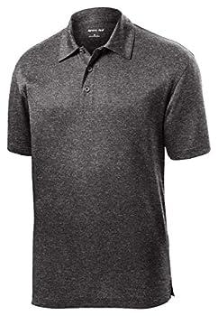 Sport Tek Men s Lightweight Breathable Polo T Shirt - Graphite Hthr ST660 L