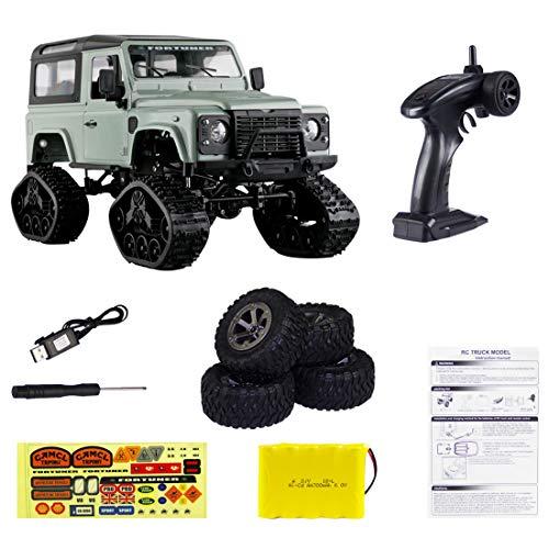 Likecom Vehículo todoterreno profesional teledirigido 1:16 4WD 2.4Ghz RC todoterreno con función completa, juguete para niños y adultos, color verde oliva
