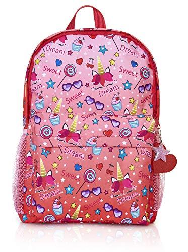 KreativeKraft Girls Backpacks, Large Capacity Pink Unicorn Girls School Bag, Unicorn Gifts for Girls