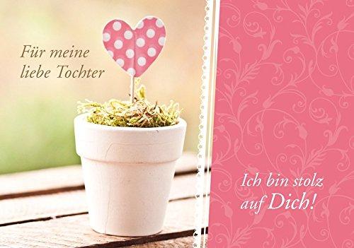 Für meine liebe Tochter - Ich bin so stolz auf Dich!: Laternenkarte