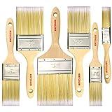 Malerpinsel für Schränke, Decks, Zäune, Innen- und Außenbereich, professionell, SRT, 10 cm, 5,1 cm, 3,8 cm, 6,3 cm, 6 Stück