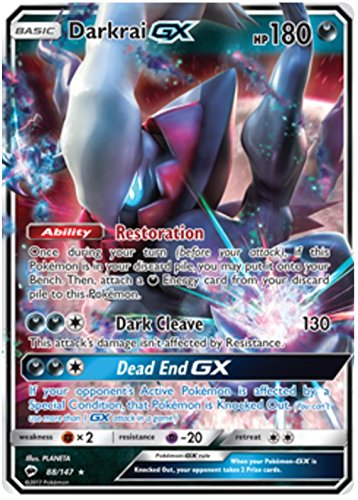 Pokémon - Darkrai GX - 88/147 - Inglese - Sun&Moon 3: Burning Shadows