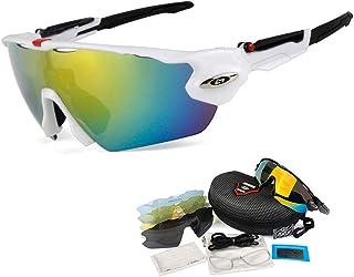 OPEL-R Gafas de Ciclismo de Deportes al Aire Libre, Gafas MTB Polarizadas a Prueba de Viento para Bicicletas PC Casual Beach Oakley Jawbreaker Sunglasses Contiene 5 Tipos de Lentes