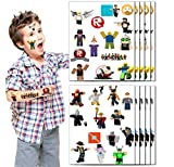 Game Temporary Tattoos Ro-blox Party Favor for Kids Ro-blox Game Birthday Party Decorations supplies (10 Sheets, 280 styles)