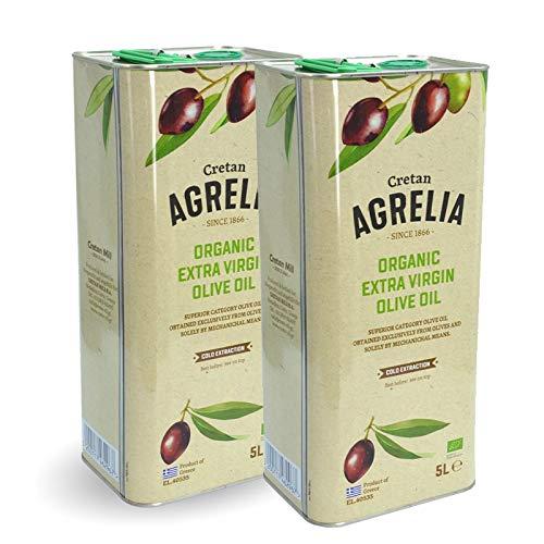 2 x 5 Liter Bio Agrelia Olivenöl Extra nativ aus Kreta, Sortein, Koroneiki Oliven