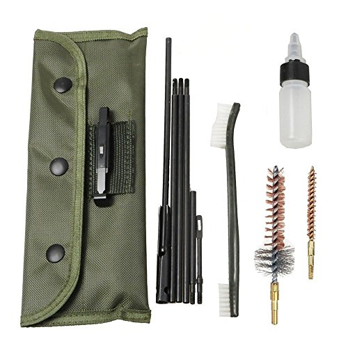 welinks 100/Set Gun Reinigung Kit Pistole Reinigung Kit Gewehr Shotgun Reinigung Kit Sets Tactical Rifle Gun von Pinsel-Set Universal Butt Lager Cleaning Kit Supplies für alle M16 und AR15 Varianten