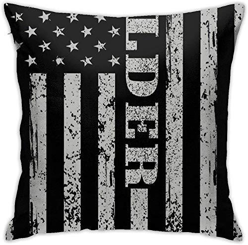BONRI American Welder Proud Welding Throw Pillow Cover Funda de Almohada Decorativa Decoración para el hogar Cuadrado , (18'x18 / 45x45cm