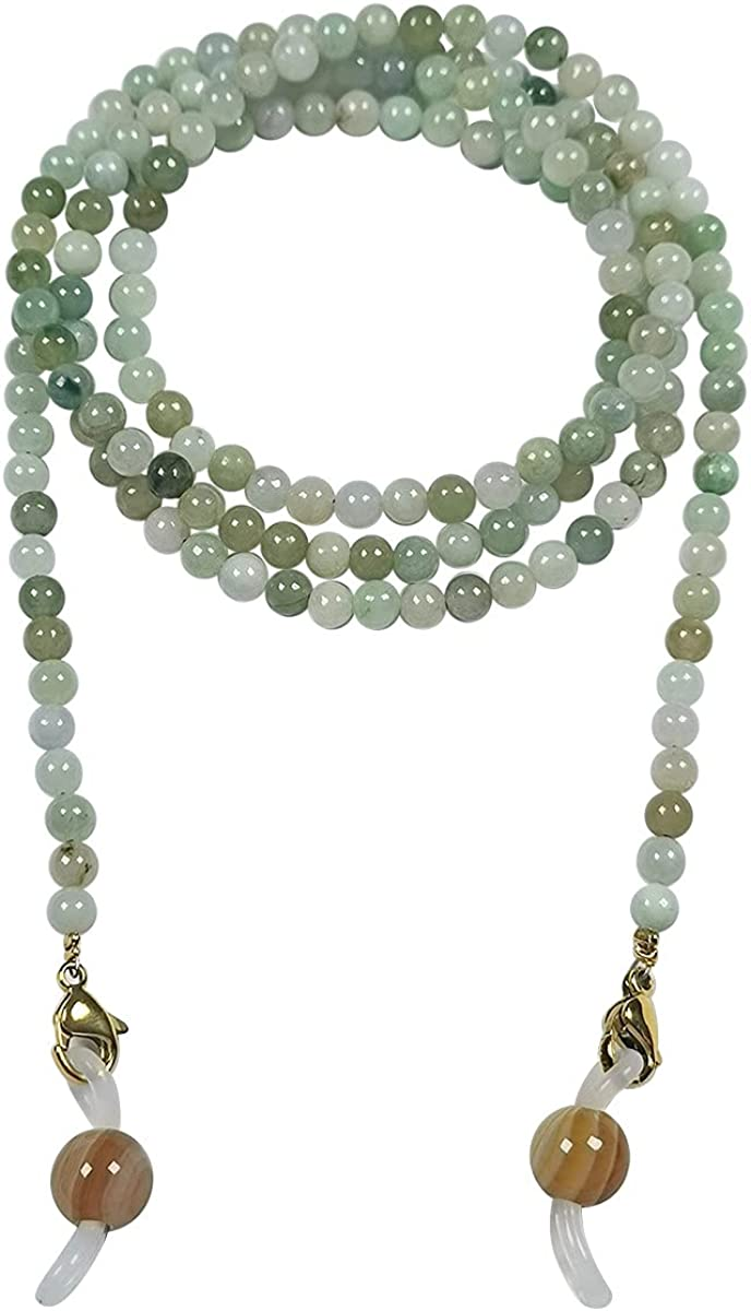 Qordelia Natural Jade Glasses Eyeglasses Max 84% OFF Neckla Chain Recommended