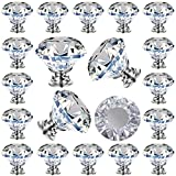 25 Pack Cabinet Knobs Drawer Knobs, Knobs Crystal Dresser...