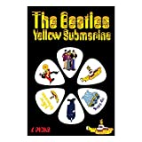 THE BEATLES YELLOW SUBMARINE YSP01 Picks Guitar Accessories, White, Set of 6 Pieces