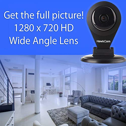 HawkCam Wireless Home Security Camera, Nanny Cam with Audio, FalconWatch HD WiFi Motion Activated,! Burglar Deterrent, DIY Indoor Security Watch Live On Most Devices