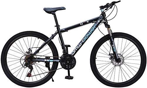 Bicicleta de montaña Completa de Aluminio Stone Mountain 26 Pulgadas Bicicleta de 21 velocidades Bicicletas de Carretera de suspensión Completa con Frenos de Disco Bicicleta