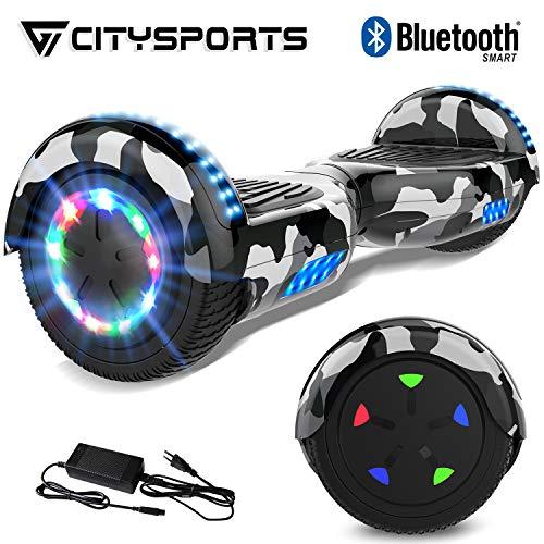 CITYSPORTS 6.5' Elektro Skateboard Board mit Bluetooth Hover Lautsprecher...