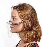2 Stück Grau Gesichtsschutzschilde, ultraleichter Mund- und Nasenschutz, transparent, Kunststoff, Fettschutz, Gesichtsschutz, Universalgröße, Visier Anti-Speichel, Schutzvisier (2)