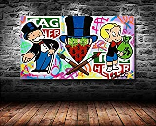 Artwu Alec Monopolys Poster Wall Art Home Wall Decorations for Bedroom Living Room Oil Paintings Canvas Prints 20x36inch-640