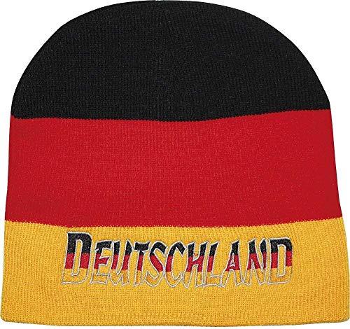 Fan-O-Menal Beanie-Mütze mit Einstickung - Deutschland - schwarz-rot-gelb - 54097