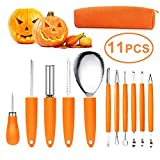 ASANMU Pumpkin Carving Kit Tools, 11 Pcs Pumpkin Carving Knife Professional Stainless Steel...