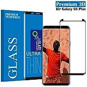 Tjicui Samsung Galaxy S8 Plus Panzerglas Schutzfolie, Qualität 3D Gehärteter Glas panzerfolie [HD Klar] [Anti-Kratzen] [Anti Fingerabdruck] [Blasenfreie Installation] 3D Displayschutzfolie Folie für Samsung Galaxy S8 Plus