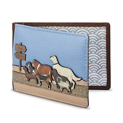 Yoshi - Soporte para tarjetas de viaje de piel