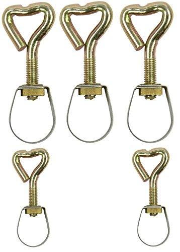 Unbekannt Lot de 10 Colliers de Serrage rohrhalterung 17 à 28 mm Tube de Fixation Modèle au Choix, Or, Rohrklemme 26-28mm, 10 Stück