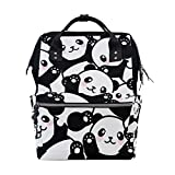 ALAZA Cartoon Panda Diaper Bags Mummy Backpack Multi Functions Large Capacity Nappy Bag Nursing Bag for Baby Care for Traveling