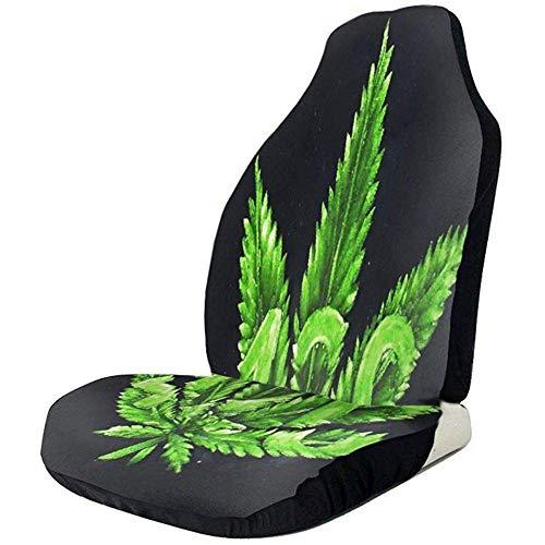 Eileen Powell Hoja de Marihuana Verde Cubiertas de Hoja de Marihuana Manta Cojín Universal Antideslizante Cojín Transpirable a Prueba de Suciedad Resistente a Las Arrugas