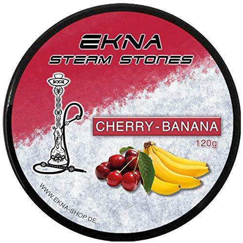 EKNA® SteamStones Kirsch-Banane 120g - Dampfstein Granulat - Shishasteine als Ersatz für Pfeifentabak