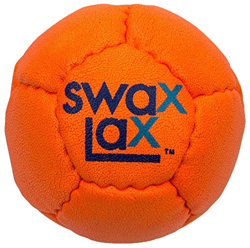 SWAX LAX Lacrosse Training Ball - Same Size & Weight as Regulation Lacrosse Ball but Soft - Indoor Outdoor Practice Ball with Less Bounce & Reduced Rebounds (One Orange)