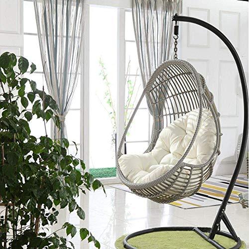 YQGOO Swing Hanging Basket Sitzkissen, Thicken Hanging Egg Hängematte Stuhlpolster, Stuhl Sitzkissen für Patio Garden (Ohne Stuhl)