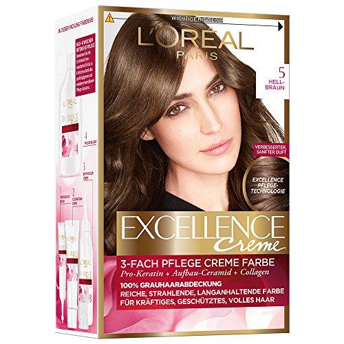 L'Oréal Paris Excellence Creme Coloration, 5 - Hellbraun