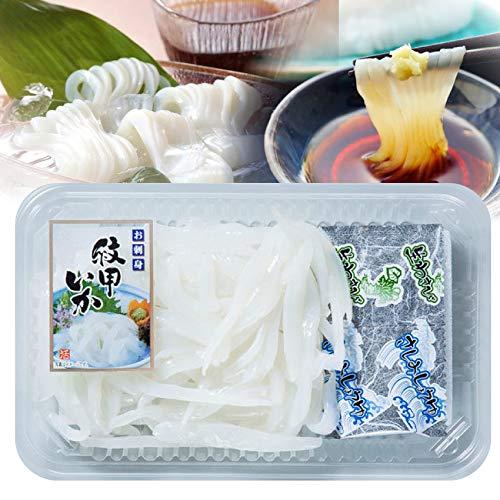 お刺身 紋甲イカソーメン 2パック(60g×2)2人前(わさび・醤油付き) 魚 刺身 いか 《*冷凍便》