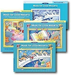 Music for Little Mozarts Level 3 - Piano Curriculem Set - Lesson Book, Discovery Book, Workbook and Flash Cards Included