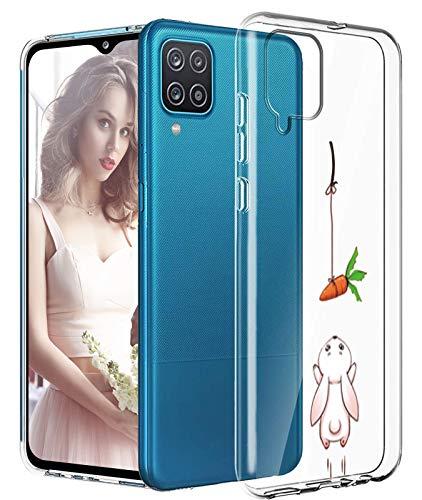 Funda para Samsung Galaxy A12, funda original transparente flexible de silicona A12, funda con estampado animal Galaxy A12, funda fina 360 grados, antigolpes, carcasa para Samsung A12