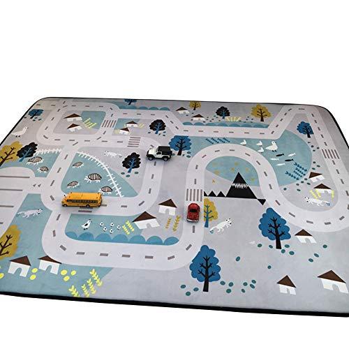 VClife® Teppiche Polyester Matte Kinderteppich Baby Krabbeldecke Kinder Spielteppich Geschenk Yoga Teppich Picknick Matte 150 x 200cm Dorf