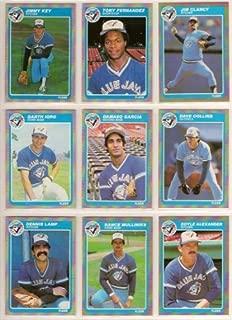 Toronto Blue Jays 1985 Fleer Baseball Team Set w/ Year End Update Cards (George Bell) (Lloyd Moseby) (Willie Upshaw) (Tony Fernandez) (Jimmy Key) (Jim Clancy) (Garth Iorg) (Damaso Garcia) (Dave Collins) (Dennis Lamp) (Rance Mulliniks) (Jim Acker) (Doyle Alexander) (Willie Aikens) (Jim Gott) (Jesse Barfield) (Alfredo Griffin) (Dave Stieb) (Ernie Whitt) (Cliff Johnson) (Buck Martinez) (Kelly Gruber Rookie)