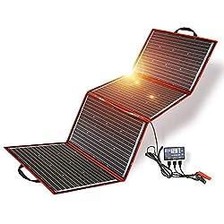 DOKIO 200W Solar Panel 12V monocrystalline foldable with inverter charge controller