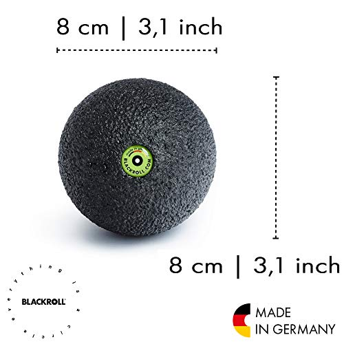 Blackroll Selbstmassage Ball 8 cm, schwarz - 2