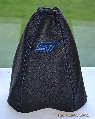 Für Ford Mondeo Mk32003–06Schaltsack schwarz Leder mit Blau ST Stickerei