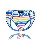 Andrew Christian Love Rainbow Stripe Locker Room Jock w/Almost Naked