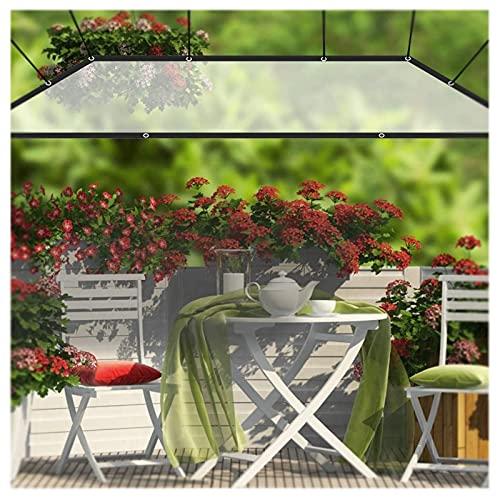 HEWYHAT Lona De PE Transparente con Ojales. Impermeable Transparente, Película Cubierta Cobertura Vegetales Versátil para La Protección del Viento Pabellón Terraza,3x2m/118x79in